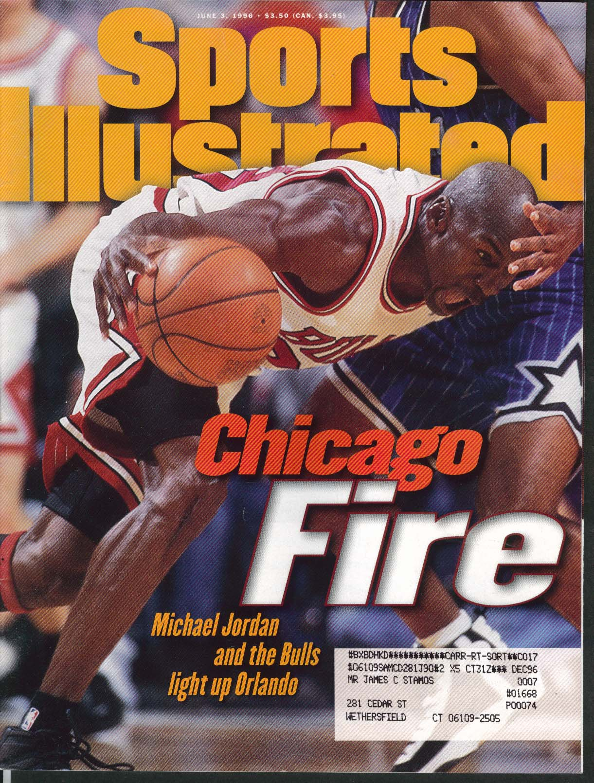 SPORTS ILLUSTRATED Michael Jordan Patrick Roy Al Davis Brands Twins 6/3 1996