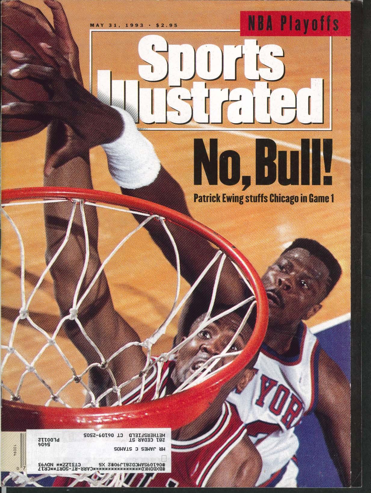 SPORTS ILLUSTRATED Patrick Ewing Charles Barkley Carlton Fisk 5/31 1993