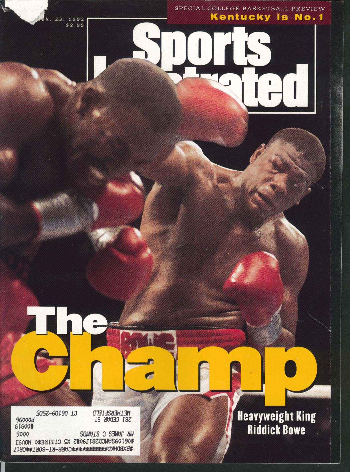 SPORTS ILLUSTRATED Riddick Bowe Evander Holyfield Steve Young 11/23 1992