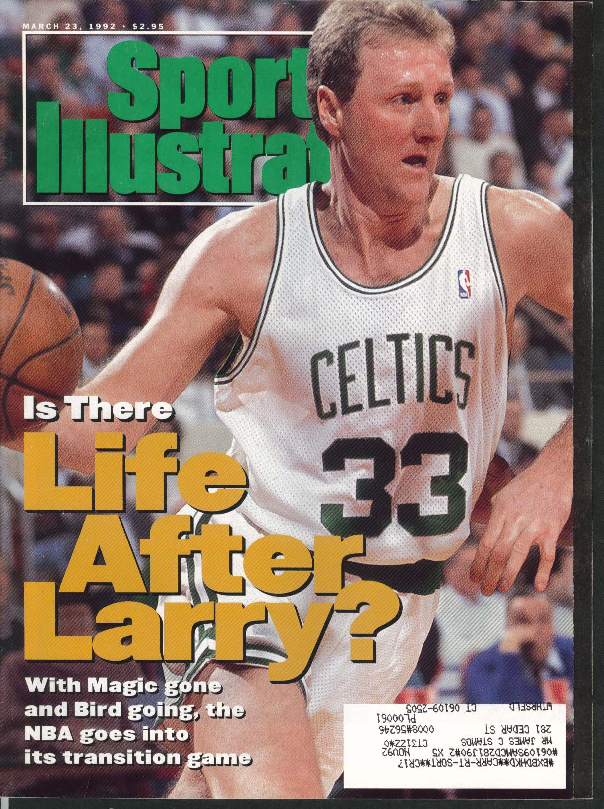 SPORTS ILLUSTRATED Larry Bird Magic Johnson Bret Boone Jim Campanis 3/23 1992