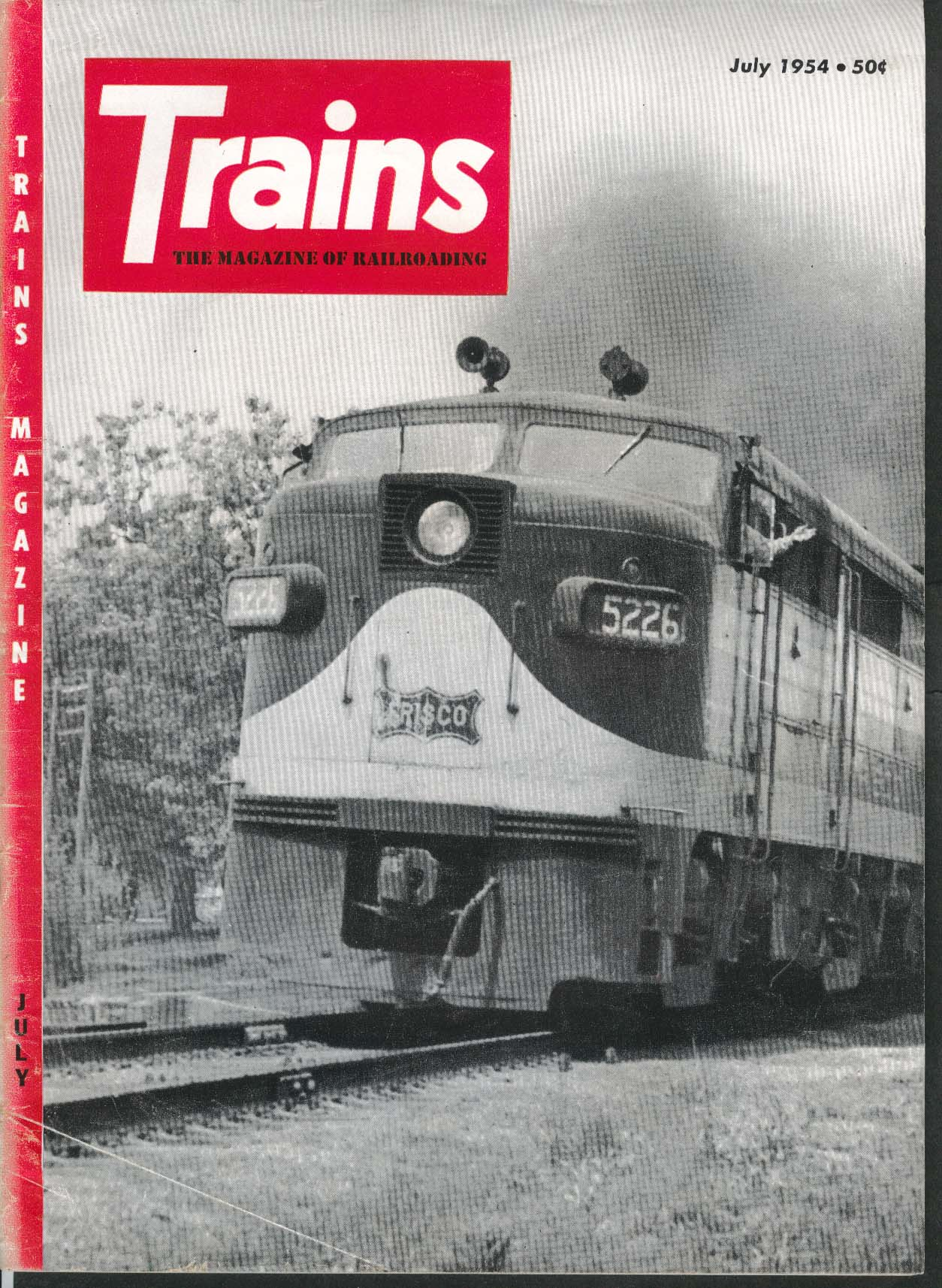 TRAINS Steam Monon British Empire Locomotives American Locomotive Company 7 1954