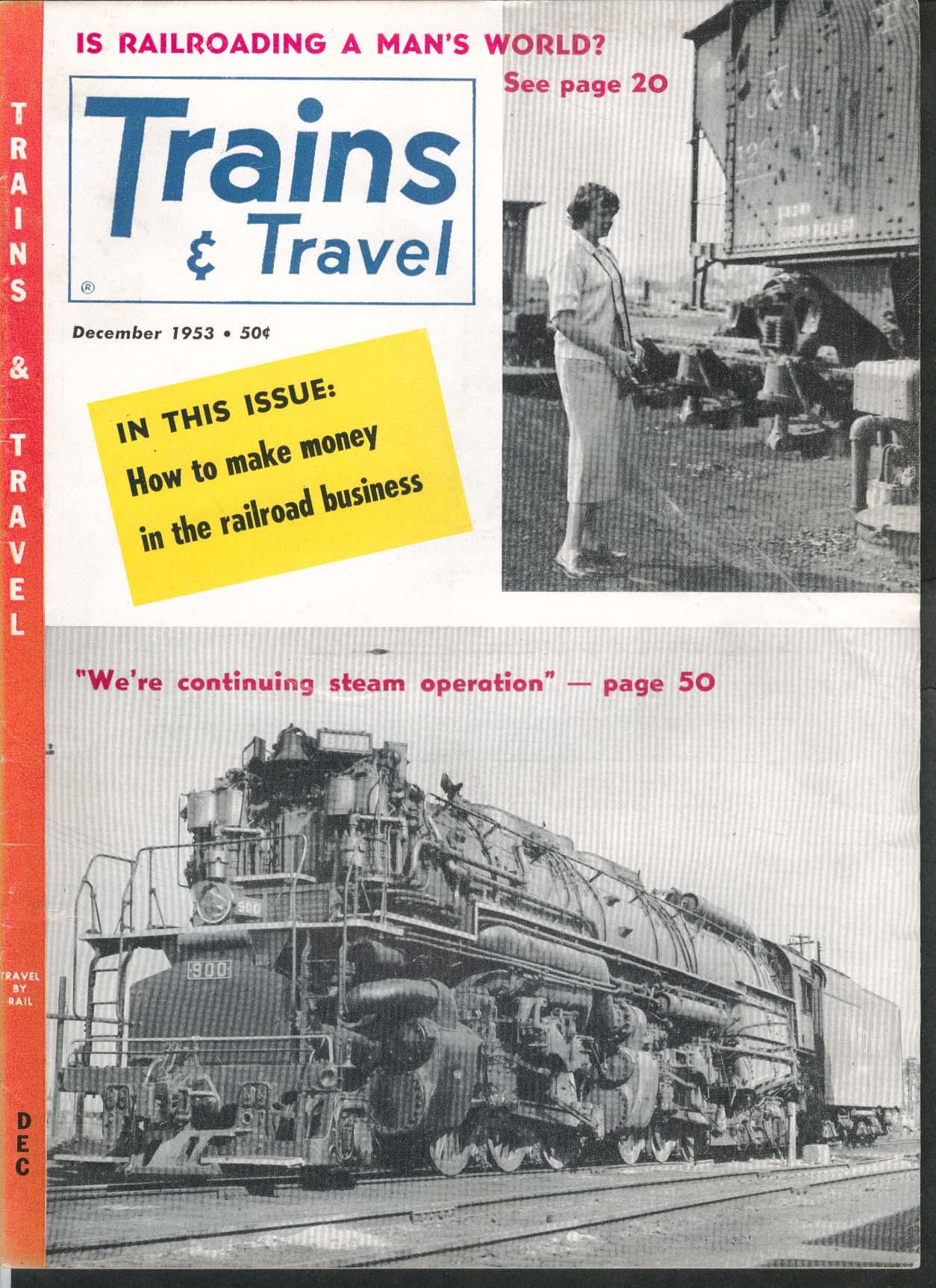 TRAINS & TRAVEL Passenger Veep Golden Age of Western Railroading 12 1953