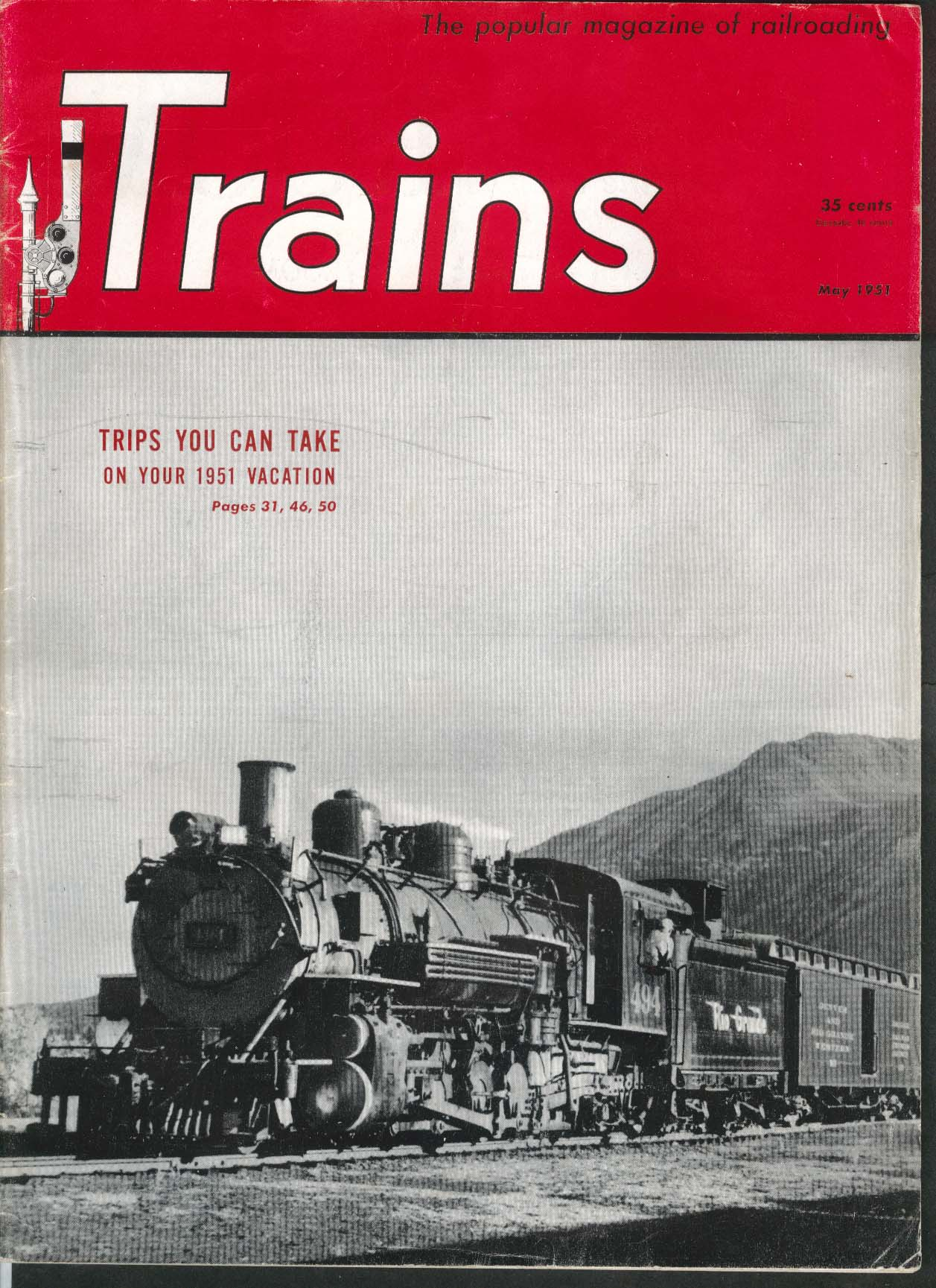 TRAINS Erie Railroad Narrow-Gauge Family Vacation 5 1951