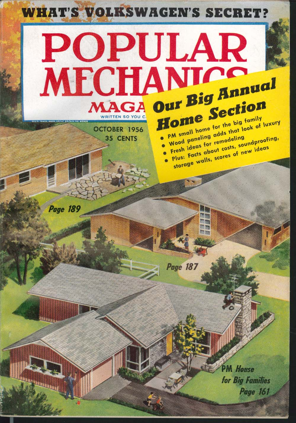 POPULAR MECHANICS Volkswagen owners report Housing Section: storage, etc 10 1956