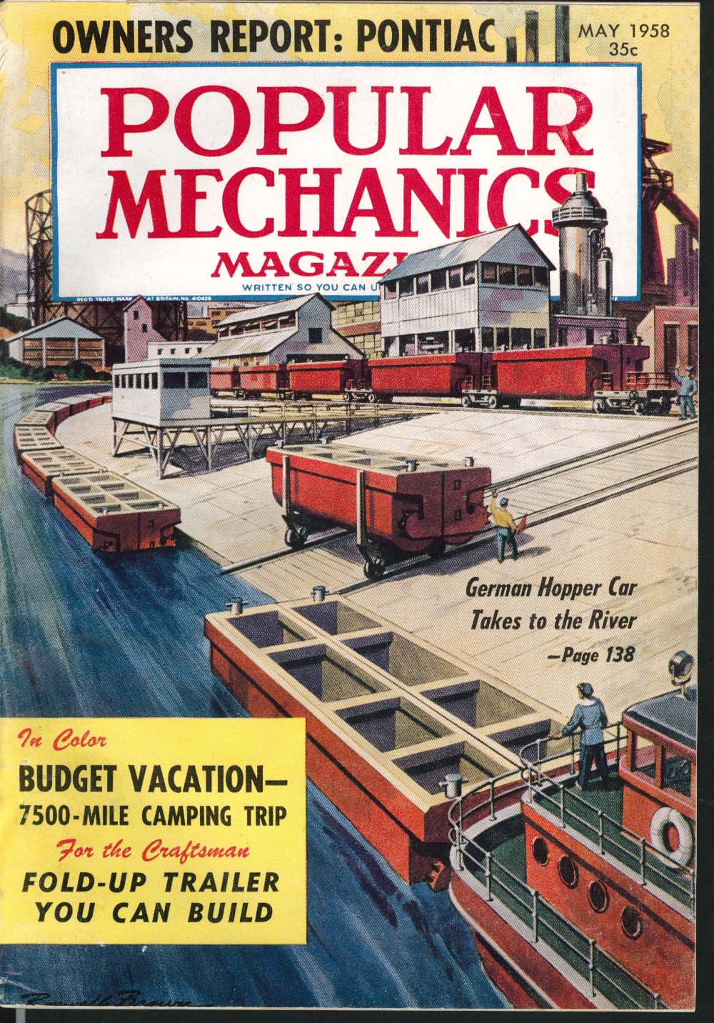 POPULAR MECHANICS Pontiac owners report Budget Camping Vacation 5 1958