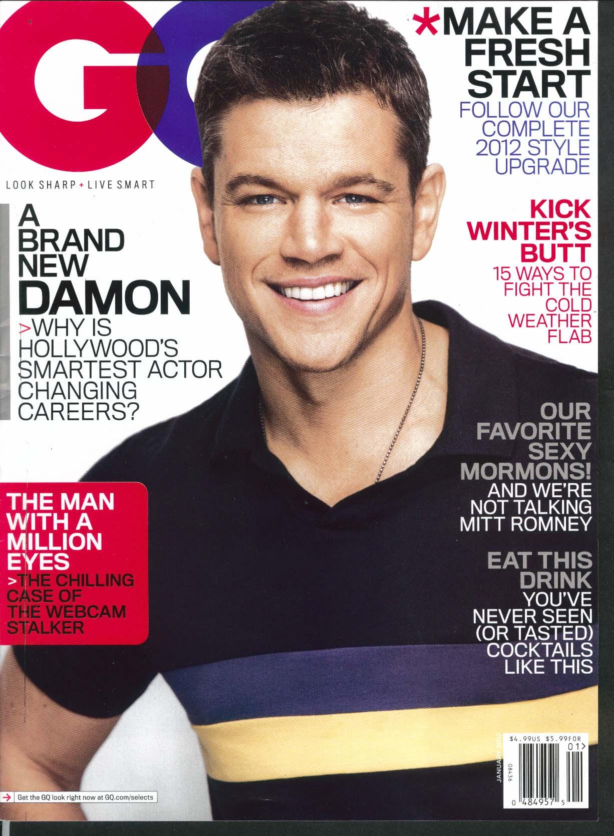 GQ Matt Damon Gina Carano Nick Nolte Ewan McGregor 2011