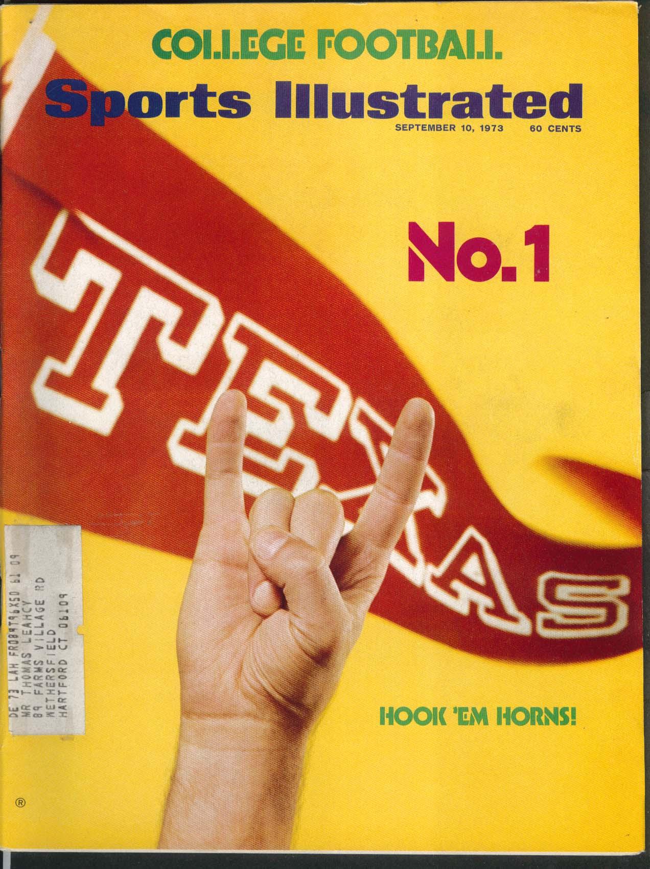 SPORTS ILLUSTRATED George Foreman Texas Unitas Billie Jean King  9/10 1973