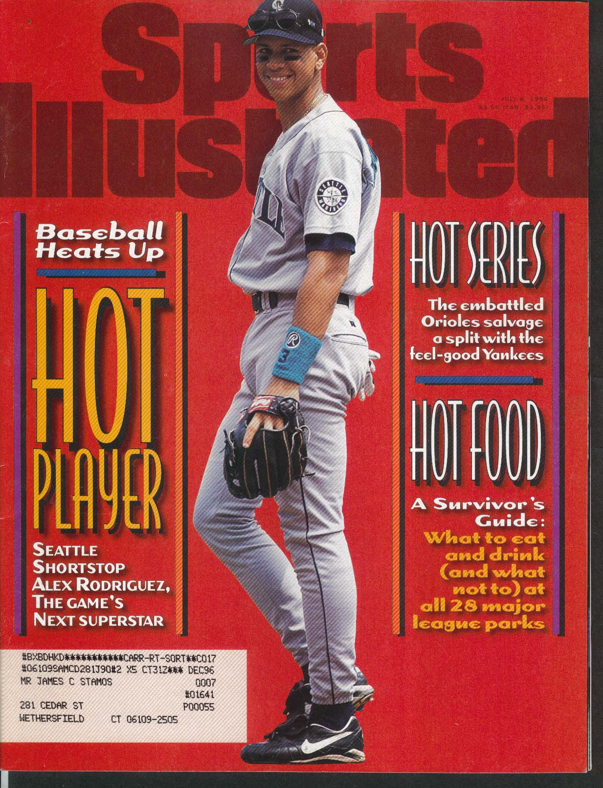 SPORTS ILLUSTRATED Alex Rodriguez Michael Irvin 7/8 1996