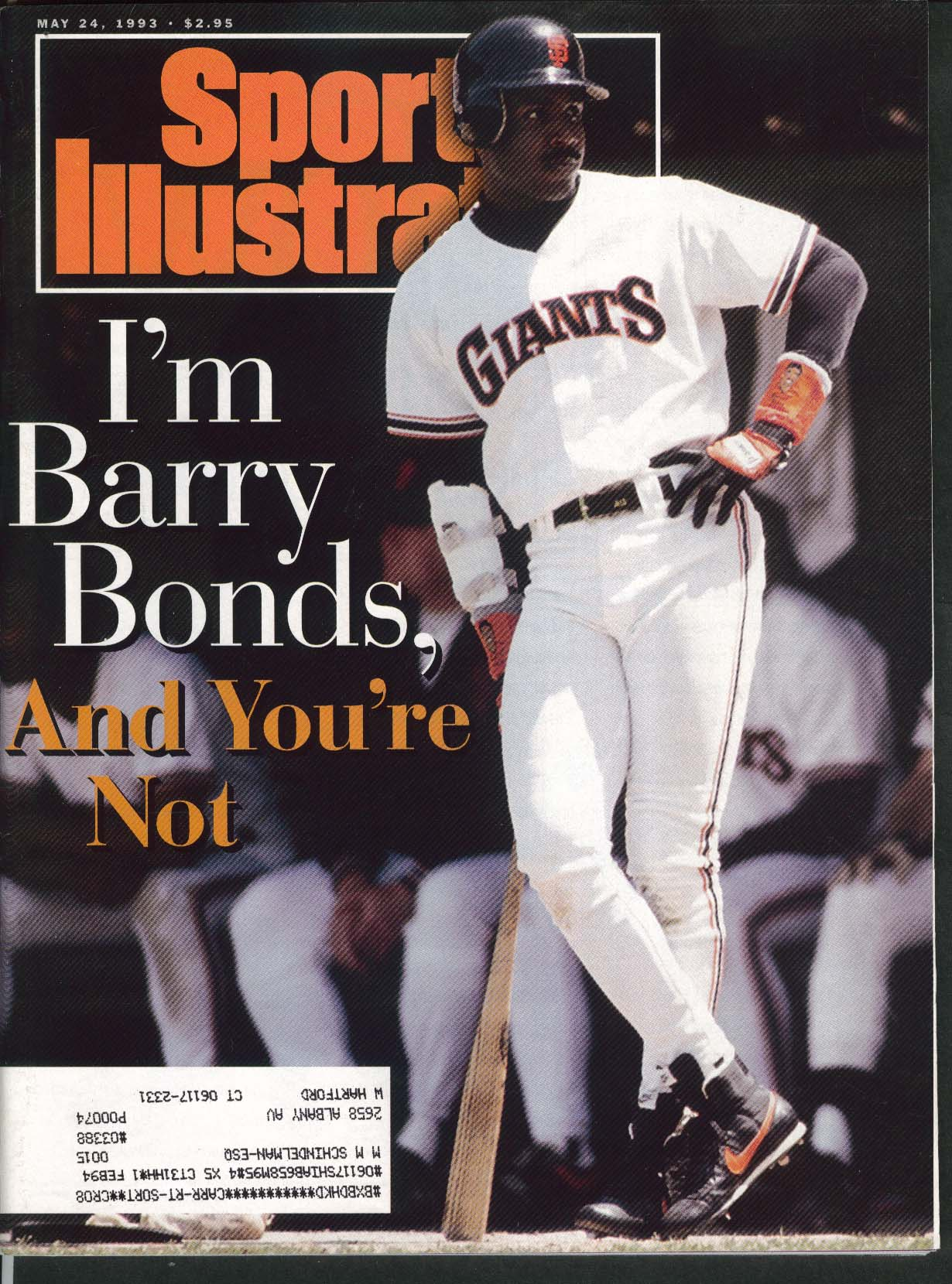 SPORTS ILLUSTRATED Barry Bonds Sam Perkins Reggie Lewis Nigel Mansell 5/24 1993