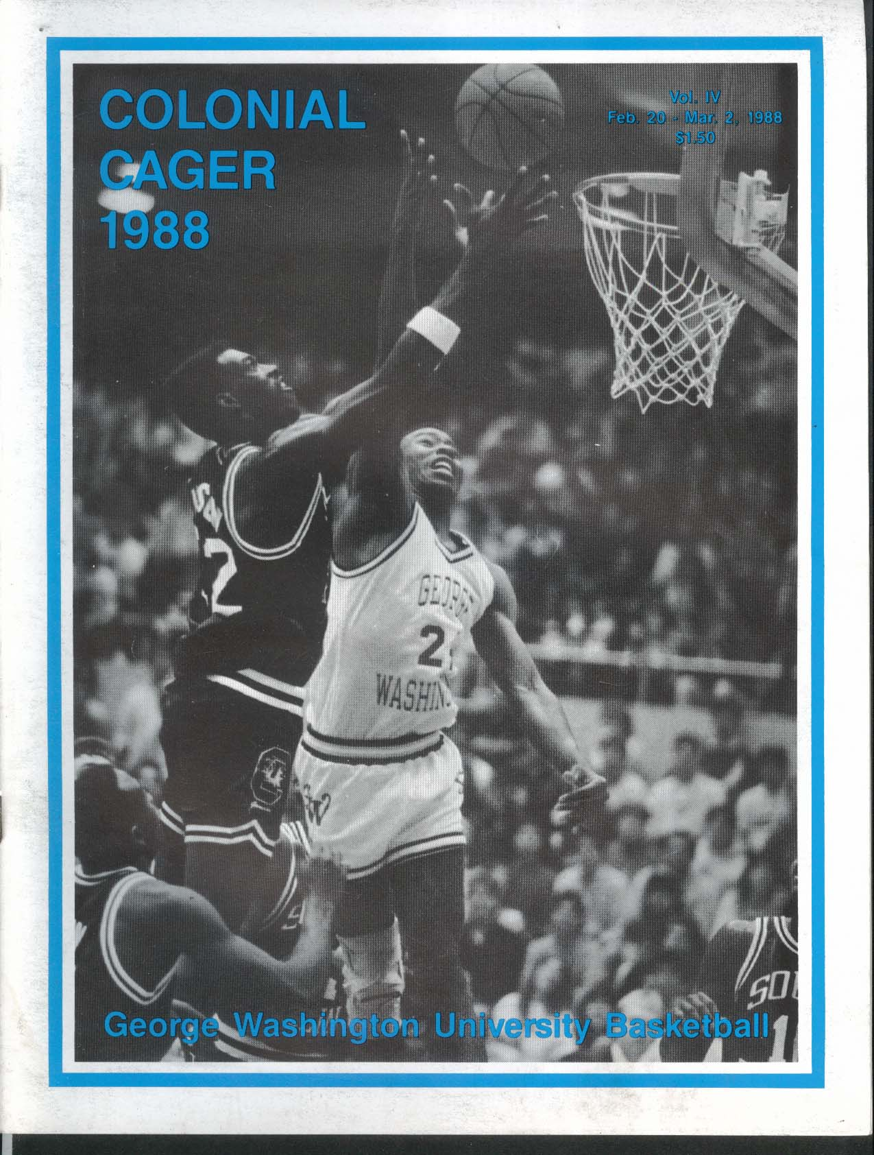 Image for Colonial Cager 1988 George Washington University Basketball Program