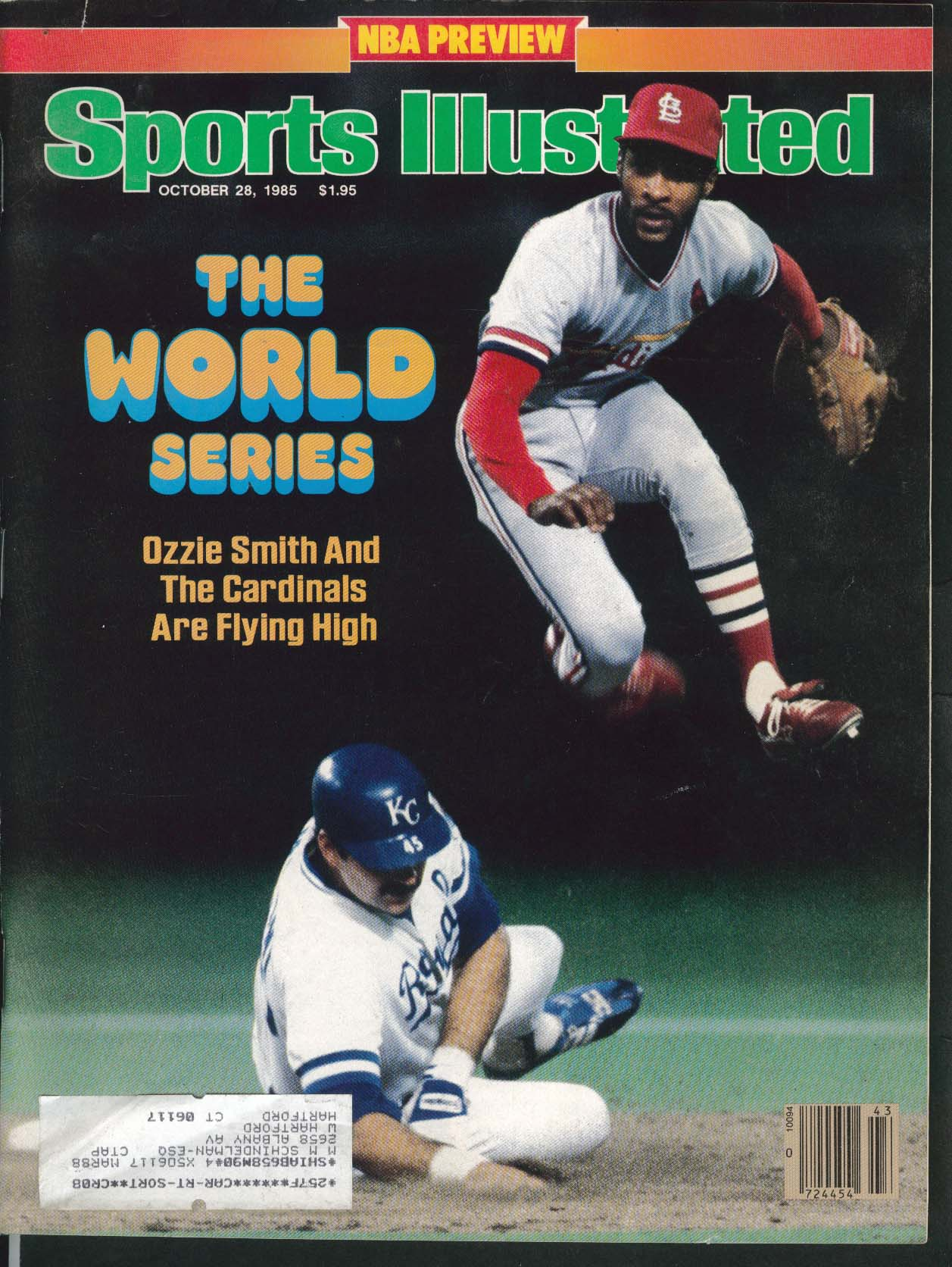 SPORTS ILLUSTRATED Ozzie Smith World Series Patrick Ewing NBA 10/28 1985