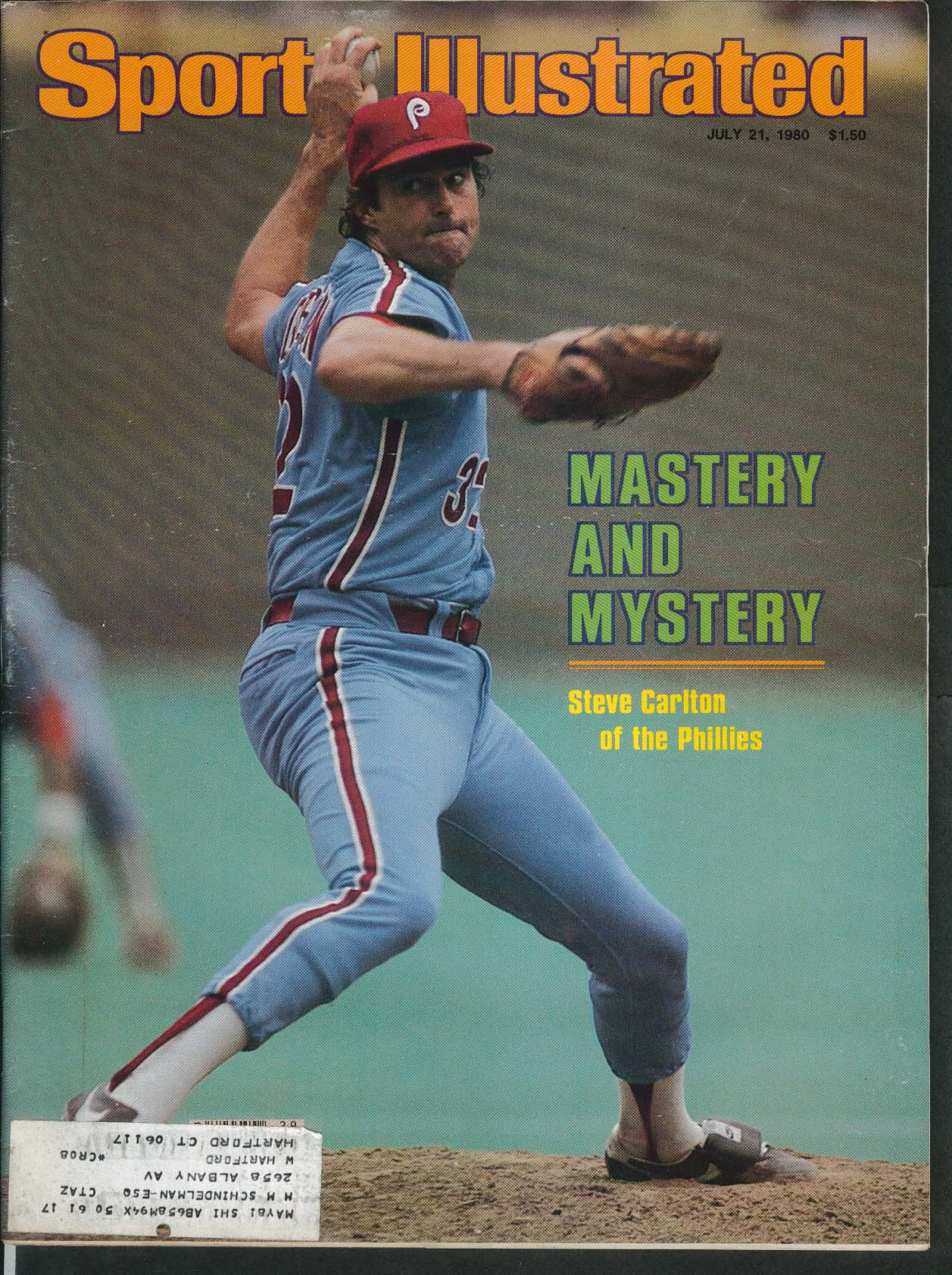 SPORTS ILLUSTRATED Steve Carlton Nancy Lieberman Chuck Noll Steelers 7/21 1980