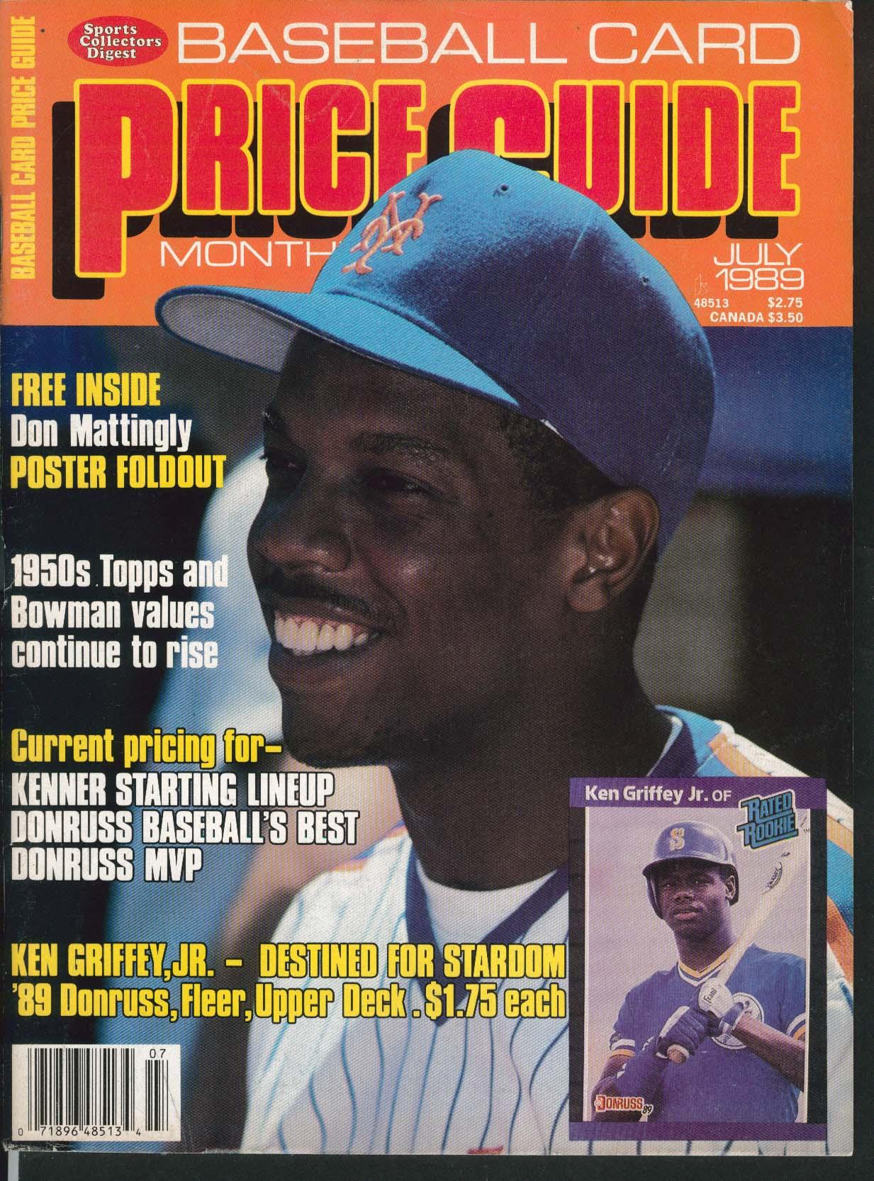 Baseball Card Price Guide Ken Griffey Jr Don Mattingly 7 1989
