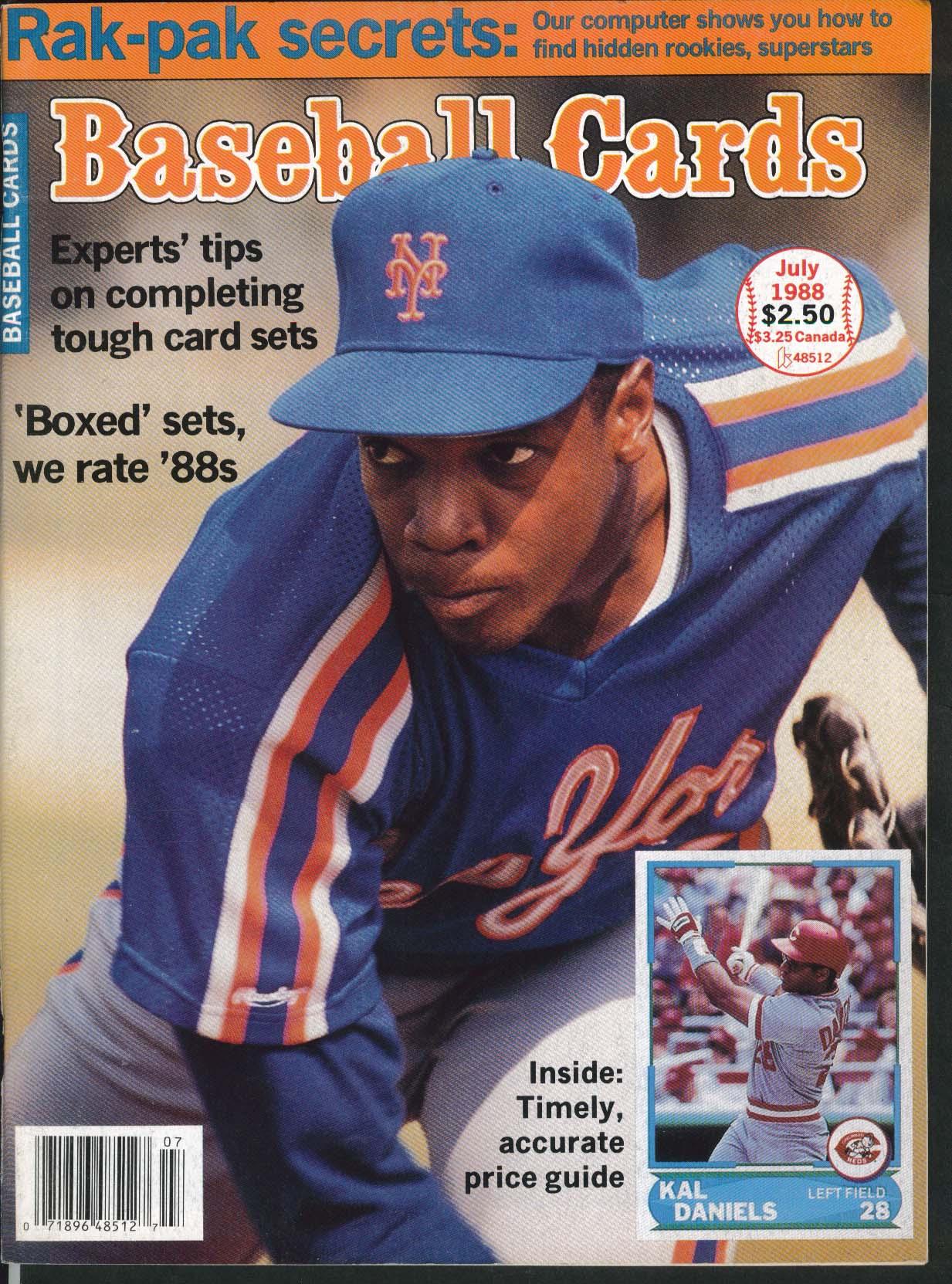 BASEBALL CARDS Kal Daniels Jeff Zeigler Dave Moriah Larry Sheets 7 1988