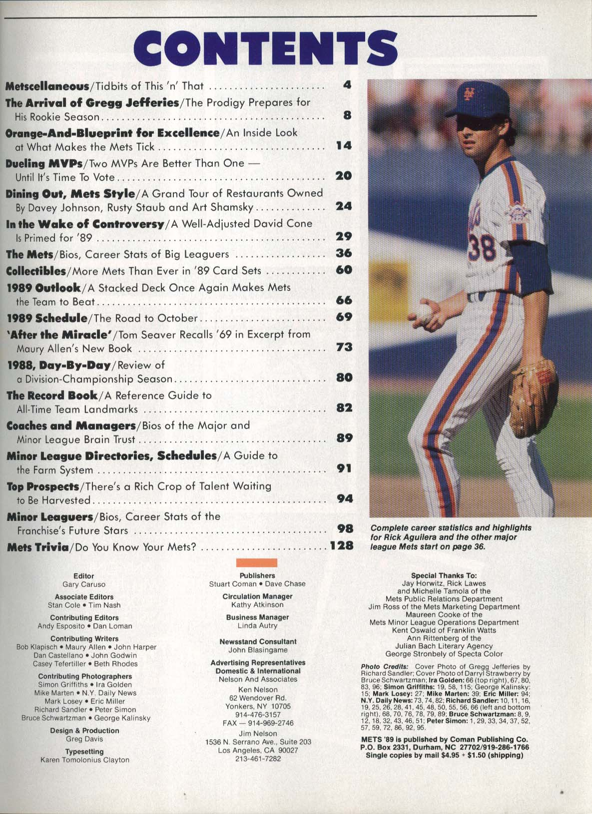 New York Mets 1989 Inside Pitch Annual Darryl Strawberry