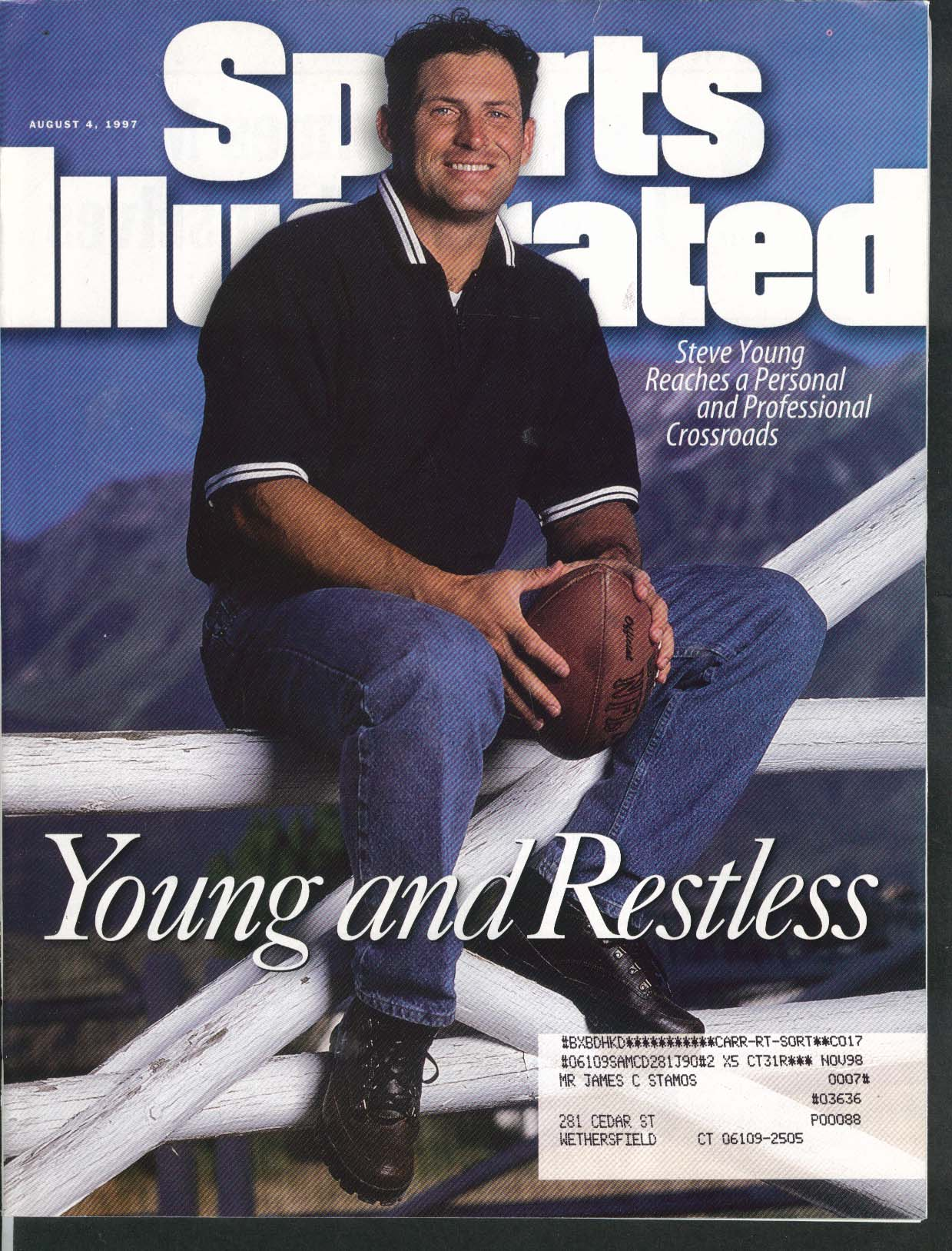 SPORTS ILLUSTRATED Steve Young Ben Hogan Bobby Valentine Chad Carvin 8/4 1997