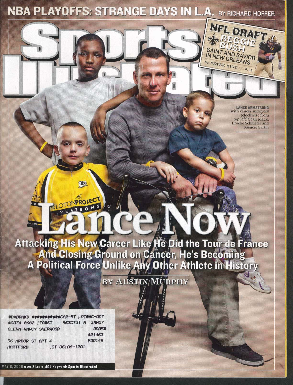 SPORTS ILLUSTRATED Lance Armstrong Reggie Bush Michael Young Mike Matz 5/8 2006