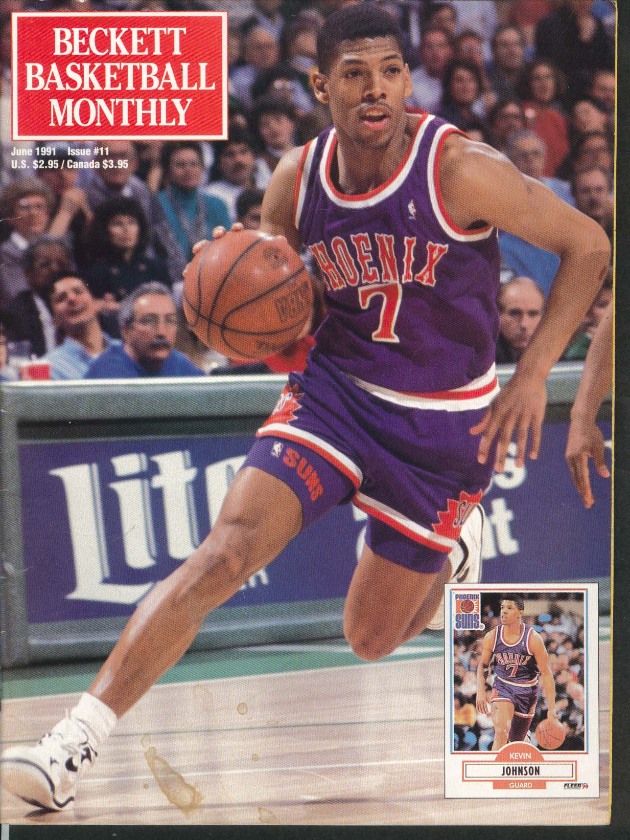 BECKETT BASKETBALL MONTHLY Kevin Johnson Joe Dumars Bernard King 6 1991