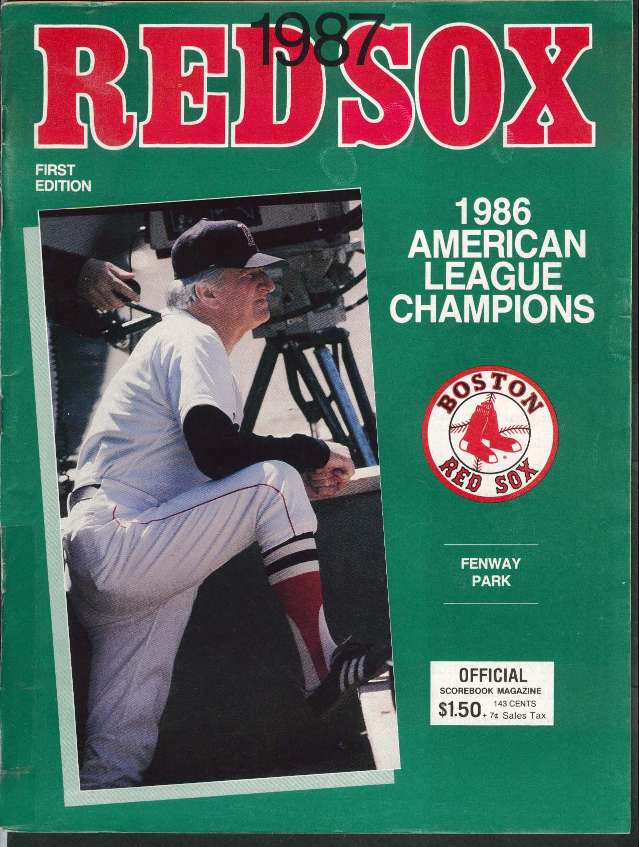 Boston Red Sox 1987 1st Edition Official Scorebook Magazine UNSCORED vs Yankees
