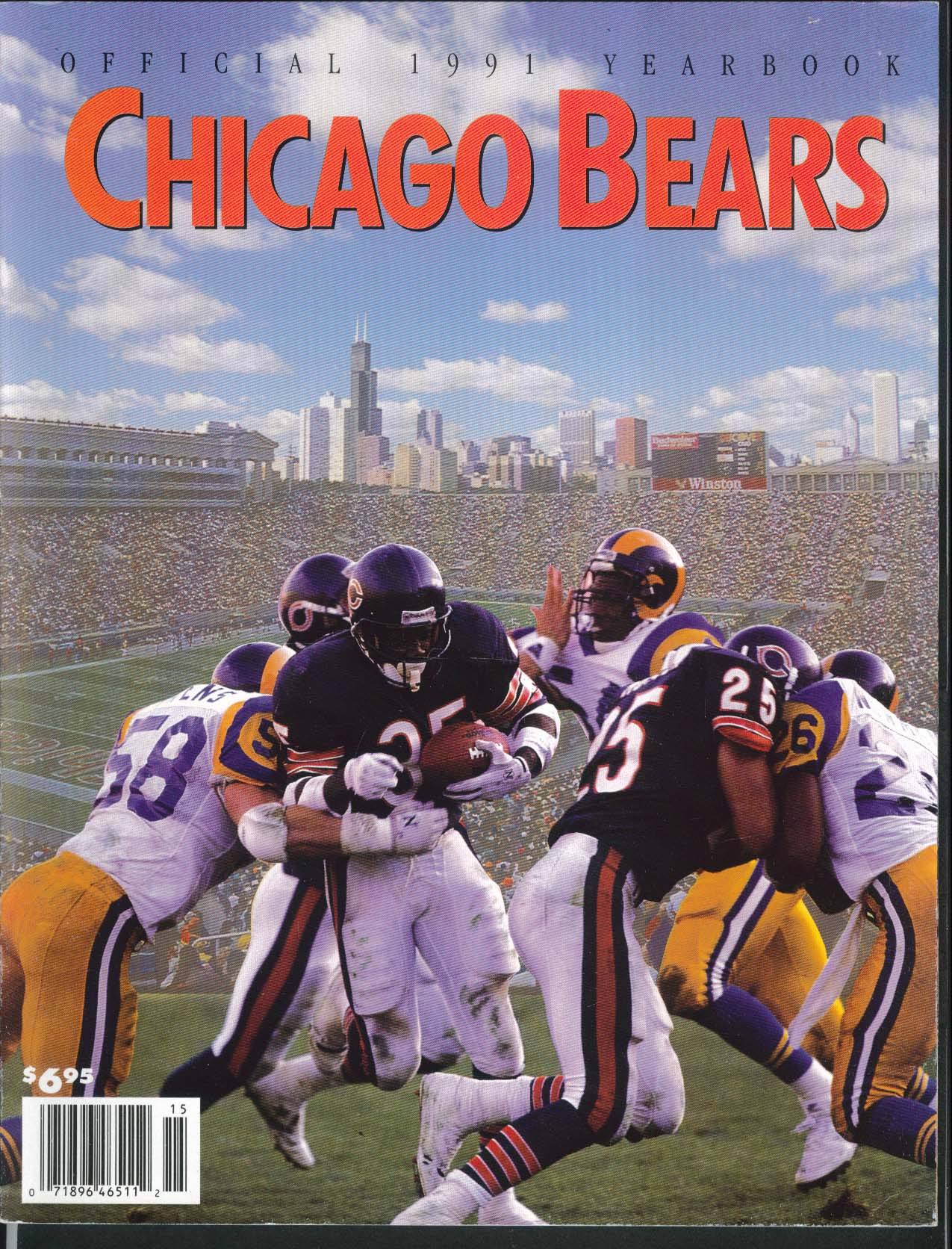 Chicago Bears Official 1991 Yearbook Mike Ditka Singletary William Perry +++