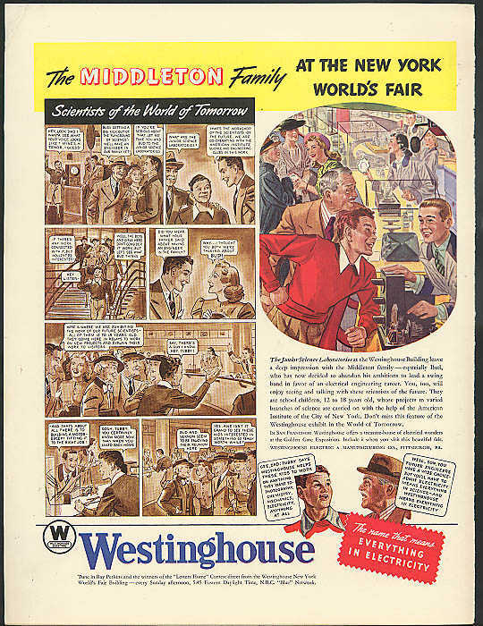 Middleton Family 1939 New York World's Fair ad Westinghouse Junior Science Lab
