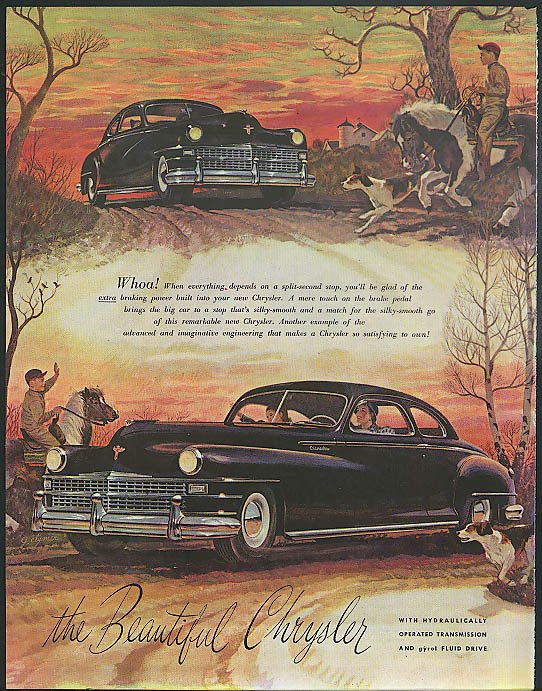 Image for Whoa! Depends on a split-second stop Chrysler Club Coupe ad 1947