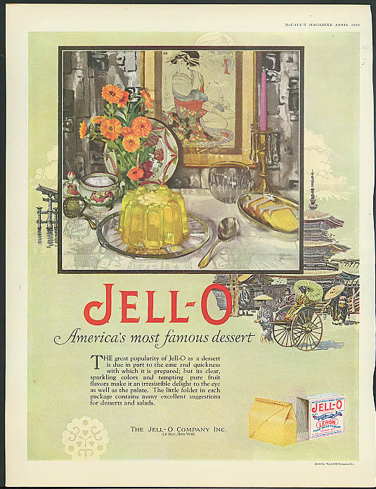 Image for Jell-O America's most famous dessert ad 1926 Marion Powers art