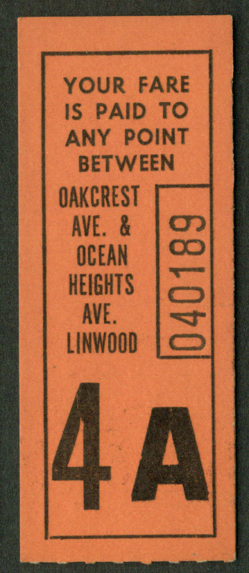 Atlantic City Transit Oakcrest Ave-Ocean Hts Ave-Linwood bus ticket ID check