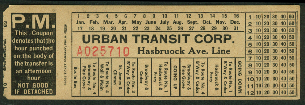 Urban Transit Corp Hasbrouck Ave Line Kingston NY bus transfer