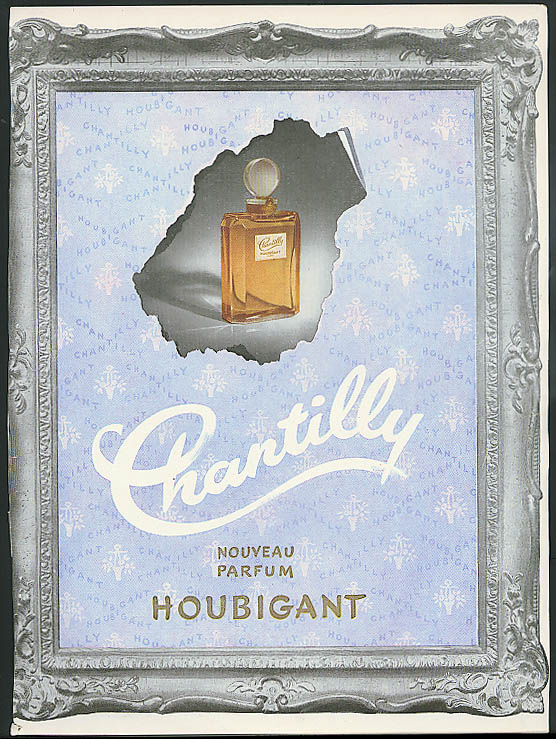 Chantilly Nouveau Parfum by Houbigant French perfume ad 1951