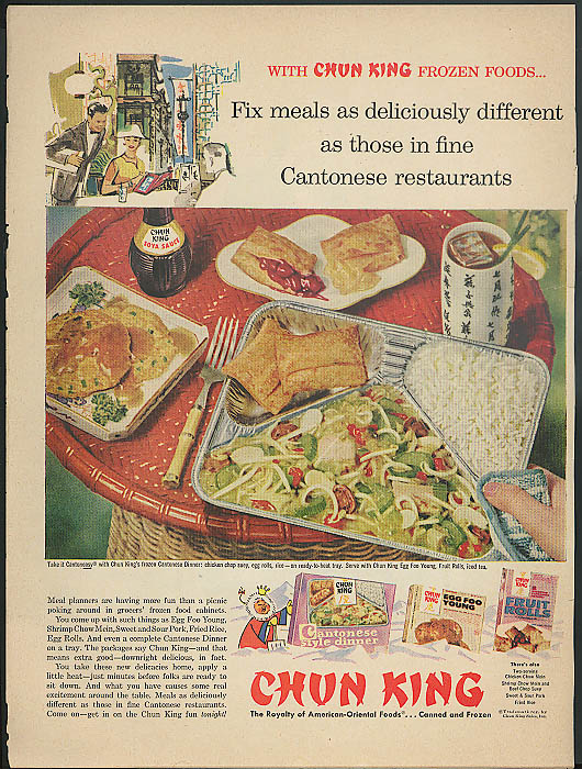 Image for Fix meals deliciously different Chun King TV Dinners ad 1958