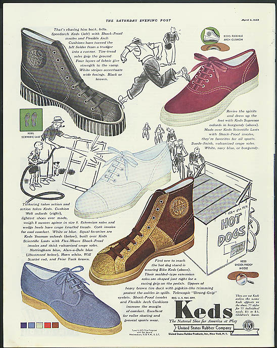 Image for Keds Speedarch Supreme Oxfords Bike Keds United States Rubber Shoes ad 1938