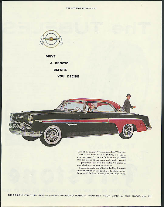 Image for Drive a De Soto before you decide De Soto Fireflite 2-door hardtop ad 1955