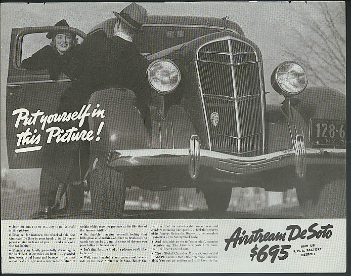 Image for Put yourself in this picture! Airstream De Soto ad 1935