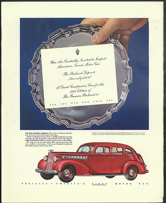 Image for You are cordially invited to inspect Packard Super-8 Sedan ad 1939