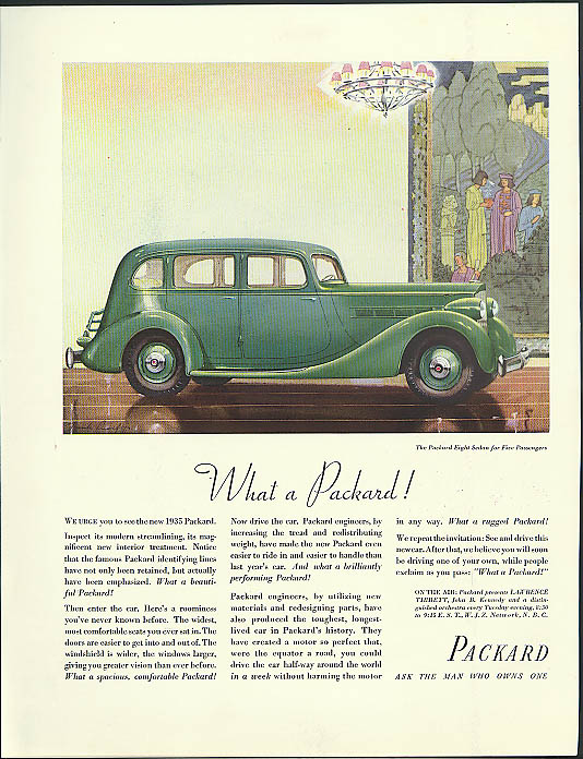 Image for What a Packard! Packard Eight Sedan for Five ad 1935