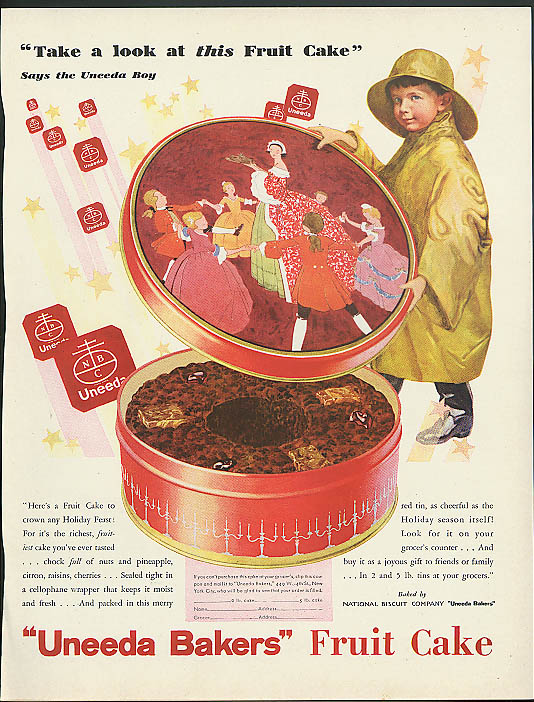 Image for Take a look at this fruit cake Uneeda Bakers NABISCO Fruit Cake ad 1930
