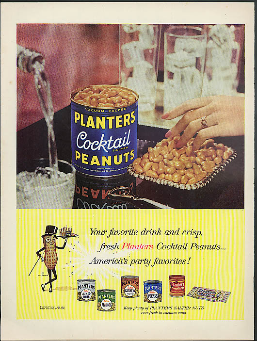 Image for Your favorite drink & crisp fresh Planters Cocktail Peanuts ad 1958