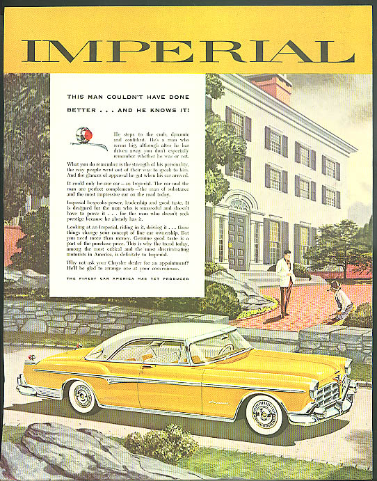 Image for This man couldn't have done better and he know it Imperial by Chrysler ad 1955