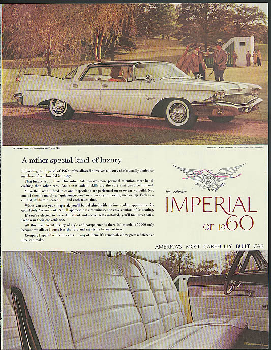 A rather special kind of luxury Imperial by Chrysler ad 1960 Crown 4-dr HT