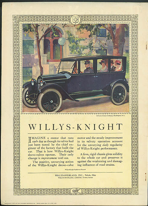 Image for Imagine a motor that runs as though valves were just tuned Willys-Knight 1920