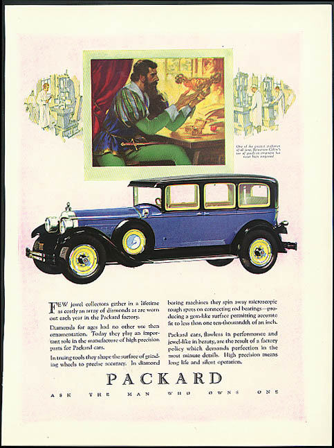 Few jewel collectors gather in a lifetime as costly an array Packard ad 1928