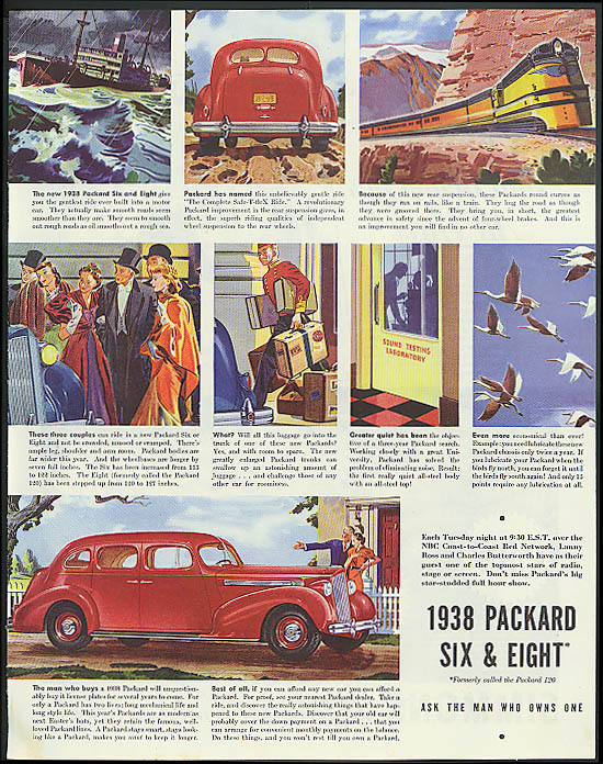 Image for The man who buys a Packard Six & Eight 4-door sedan ad 1938