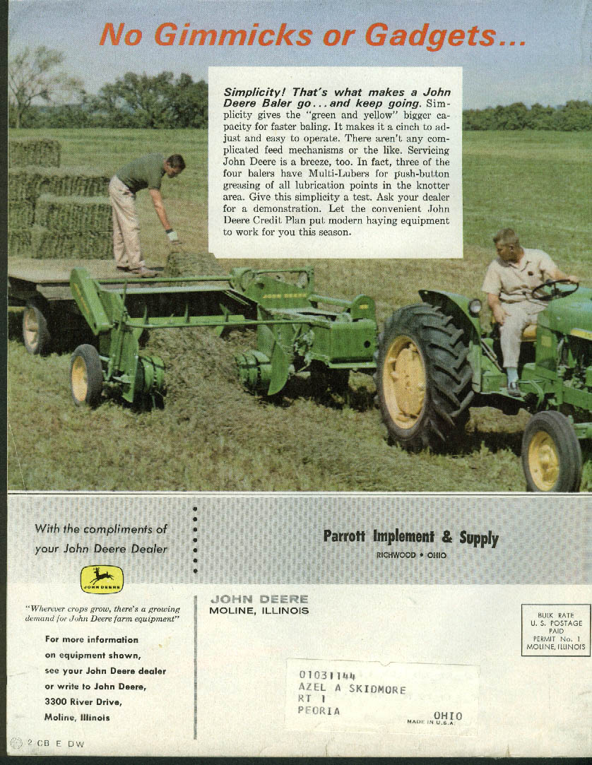 John Deere THE FURROW 3 1962 Forage Testing Special Issue