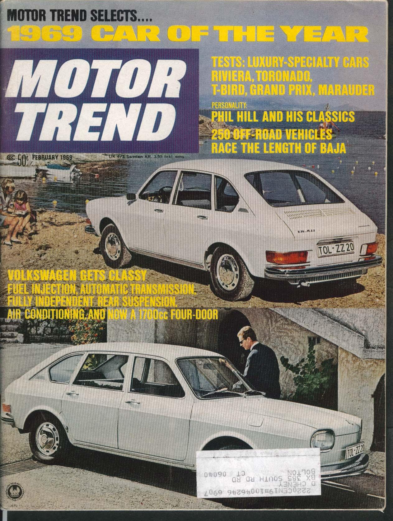 MOTOR TREND Volkswagen 411 Riviera Toronato Thunderbird Grand Prix ++ 2 1969