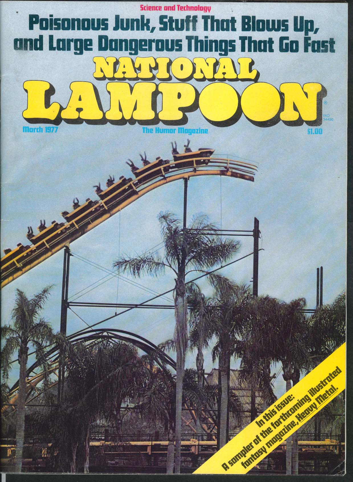 NATIONAL LAMPOON Heavy Metal magazine preview 3 1977