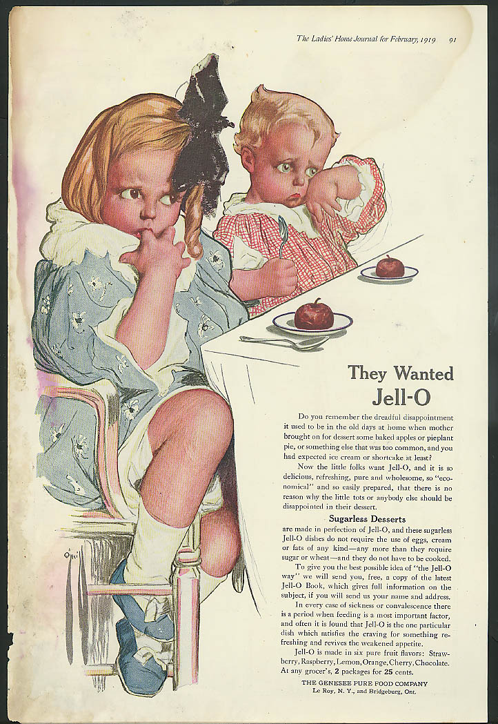 Image for They Wanted Jell-O magazine ad Rose O'Neill artwork
