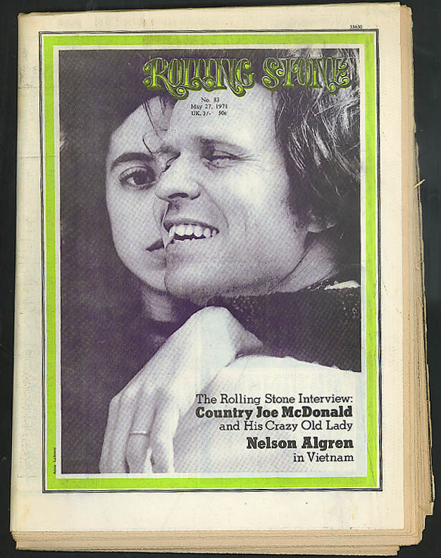 Image for ROLLING STONE Country Joe McDonald Nelson Algren Phil Ochs ++ 5/27 1971