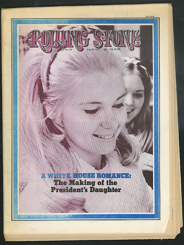 Image for ROLLING STONE Tricia Nixon Lenny Bruce Ex-Mouseketeer Dennis Day ++ 6/24 1971