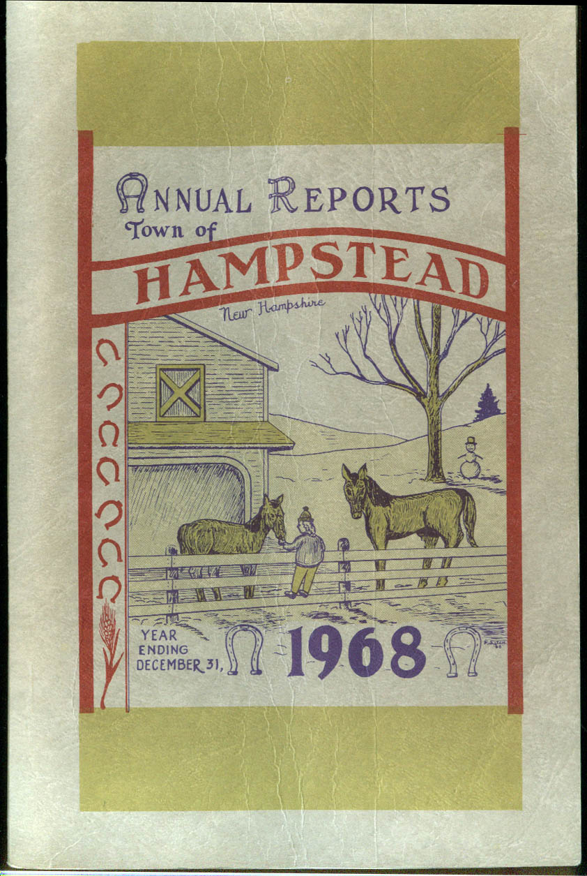 Town of Hampstead NH Annual Report 1968
